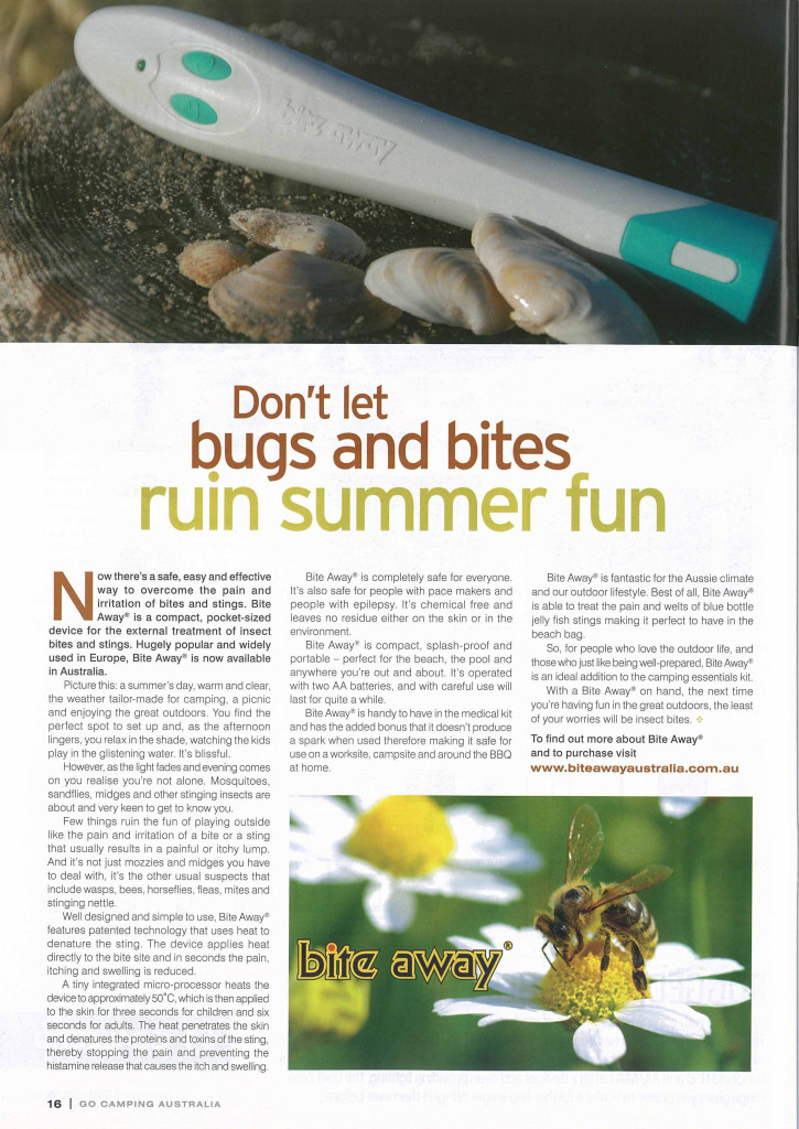 Bugs and bite relief Australia